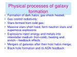 physical processes of galaxy formation