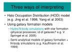 three ways of interpreting
