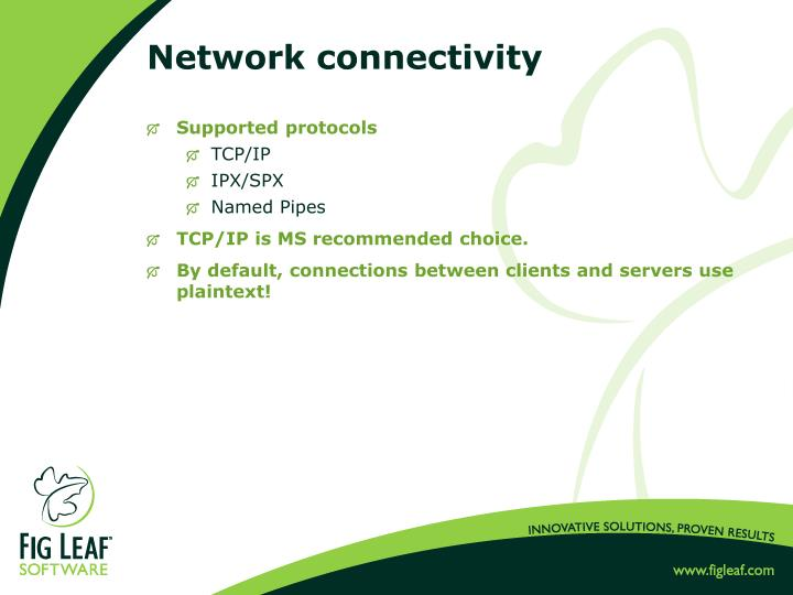 Network connectivity