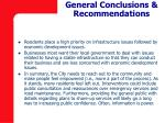 general conclusions recommendations
