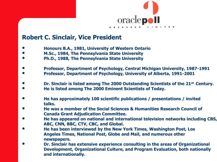 Robert C. Sinclair, Vice President