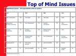 top of mind issues1