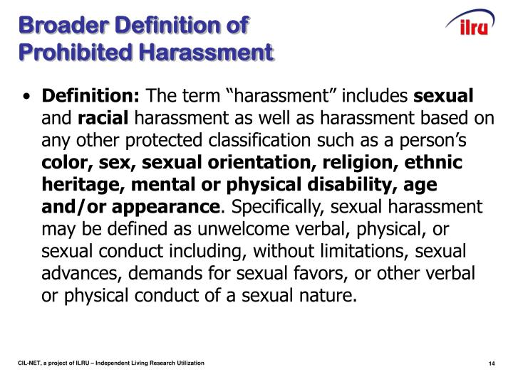 Broader Definition of