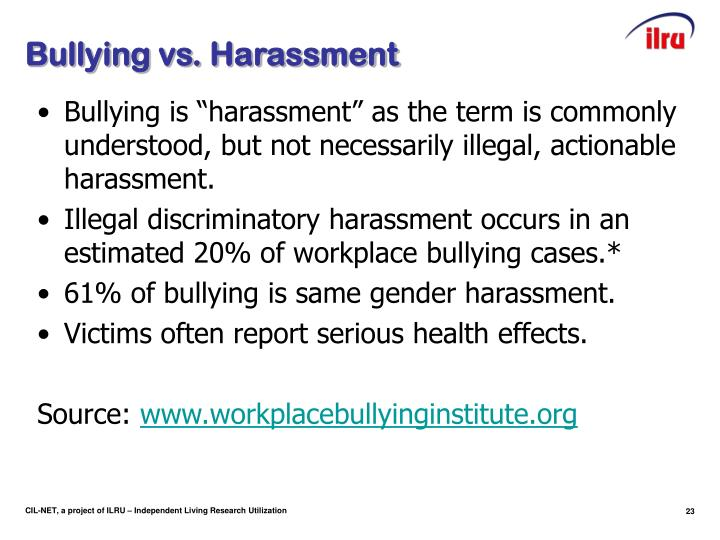 Bullying vs. Harassment