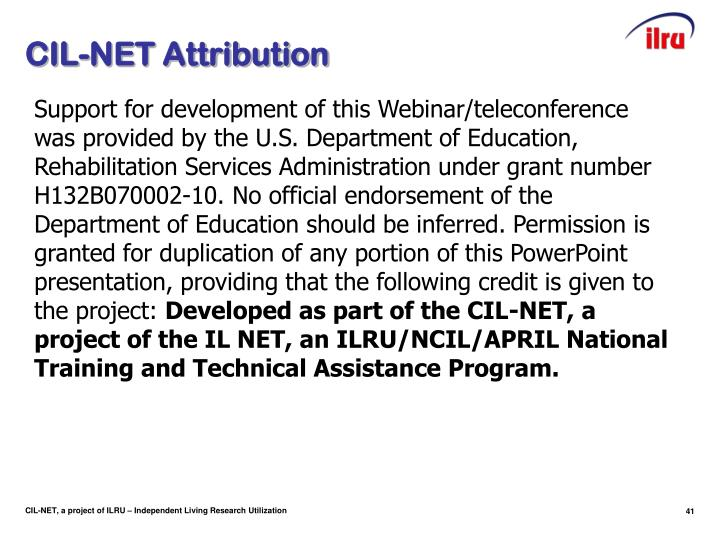 CIL-NET Attribution