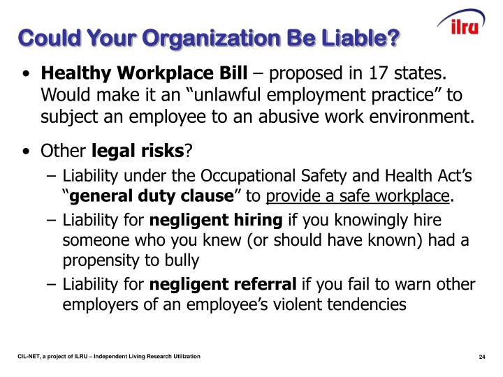 Could Your Organization Be Liable?