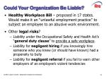 could your organization be liable