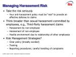managing harassment risk