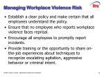 managing workplace violence risk