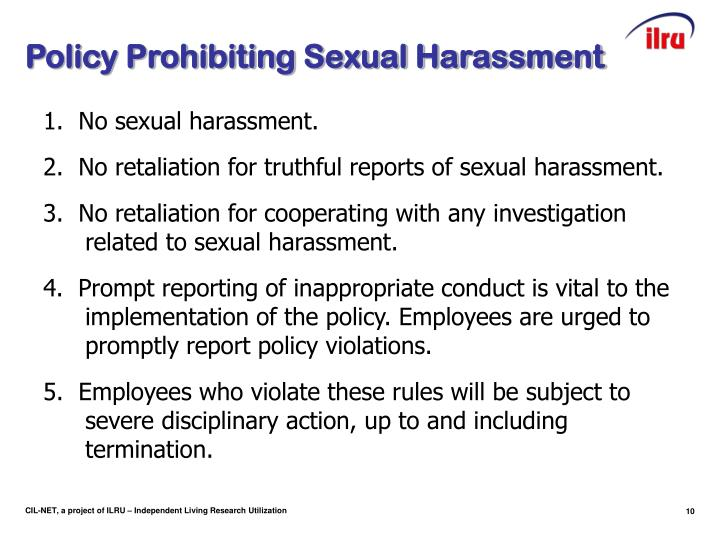 Policy Prohibiting Sexual Harassment
