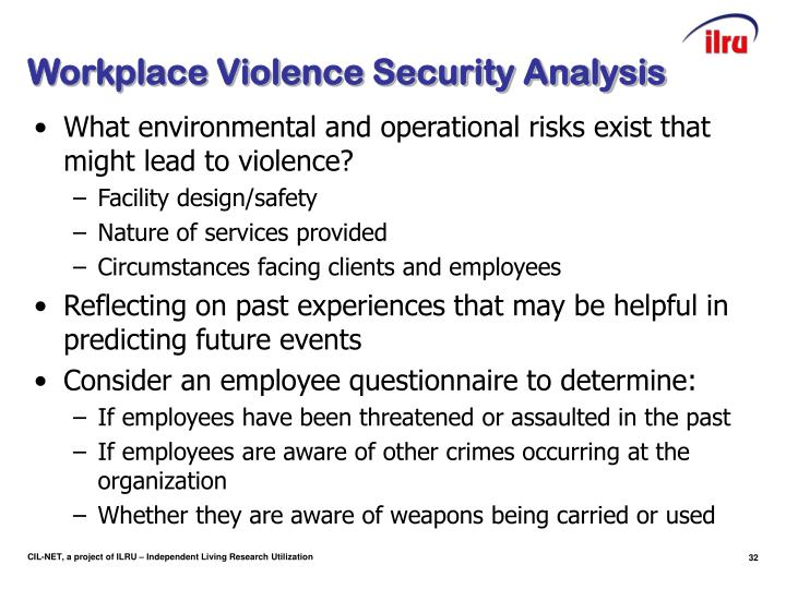 Workplace Violence Security Analysis