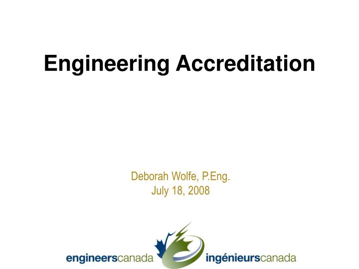 Engineering accreditation
