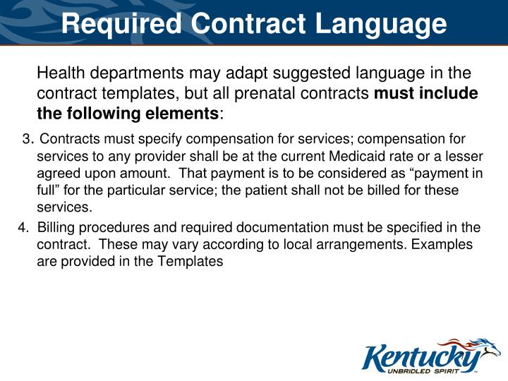 Required Contract Language