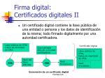 firma digital certificados digitales ii