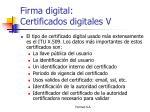 firma digital certificados digitales v