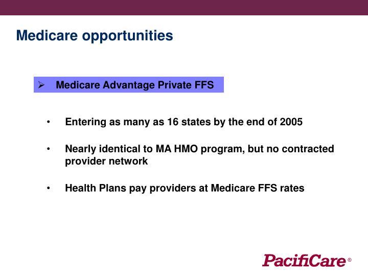 Medicare opportunities