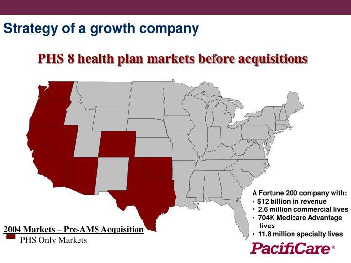 2004 Markets – Pre-AMS Acquisition
