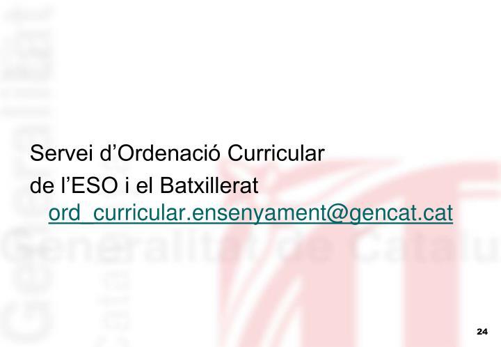 Servei d'Ordenació Curricular