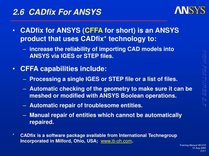 CADfix for ANSYS (