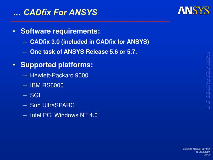 Cadfix for ansys