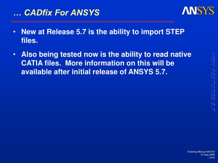 … CADfix For ANSYS