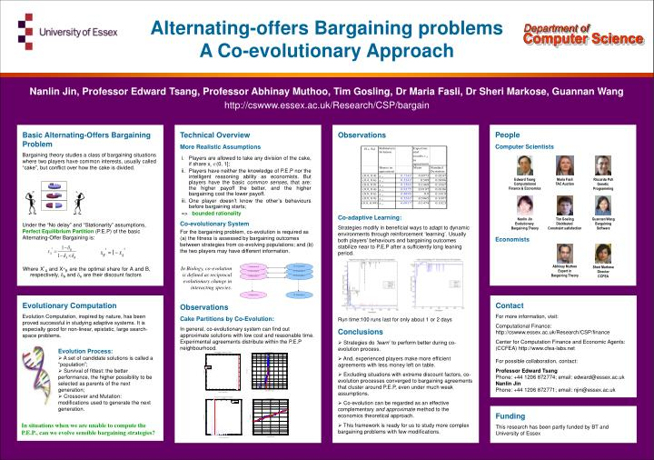 Alternating-offers Bargaining problems