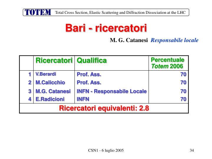Bari - ricercatori