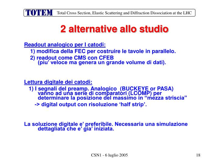 2 alternative allo studio