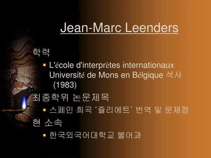 Jean-Marc Leenders