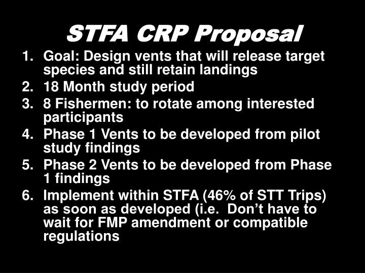 STFA CRP Proposal