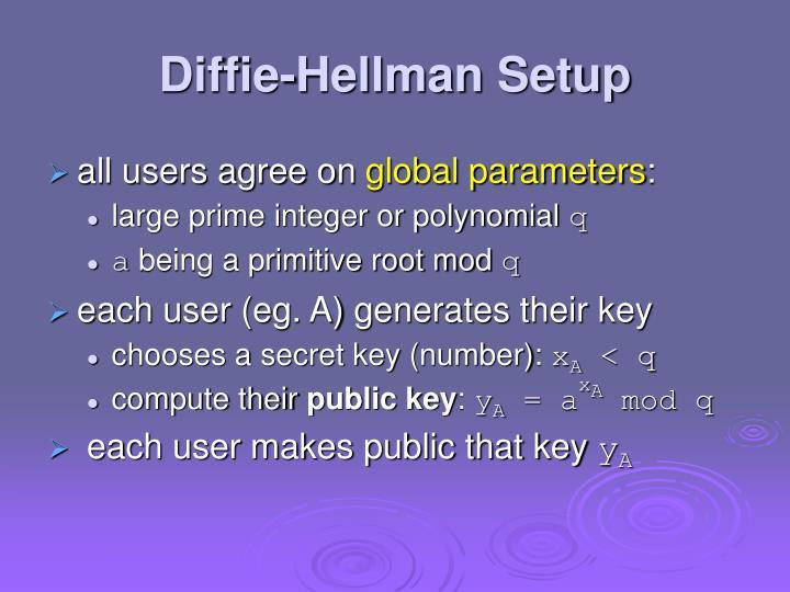 Diffie-Hellman Setup