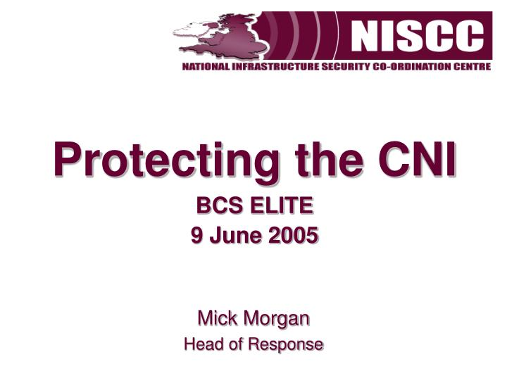 Protecting the CNI