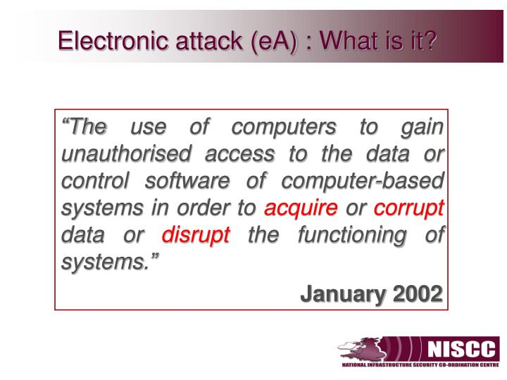Electronic attack (eA) : What is it?