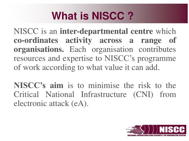 What is niscc