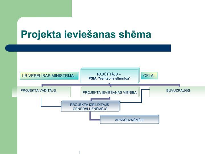 Projekta ieviešanas shēma