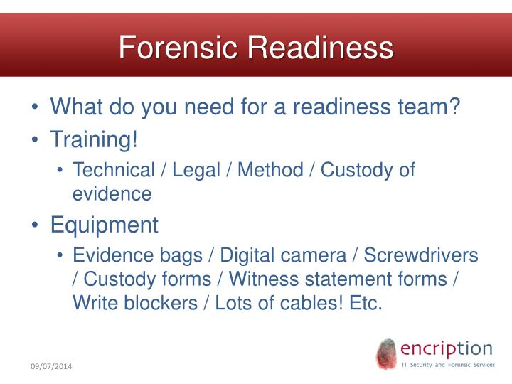 Forensic Readiness