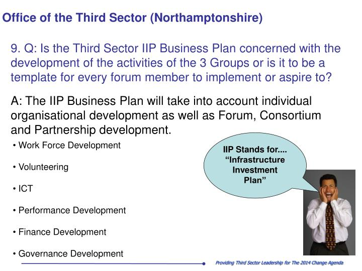 "IIP Stands for.... ""Infrastructure Investment Plan"""