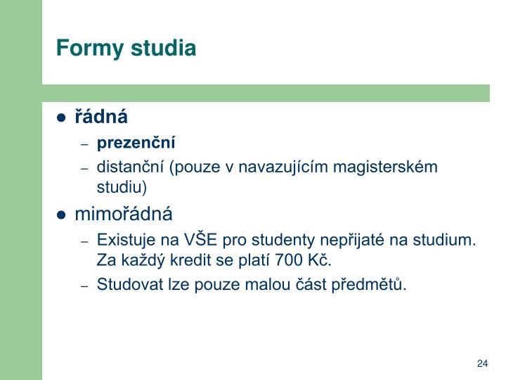 Formy studia