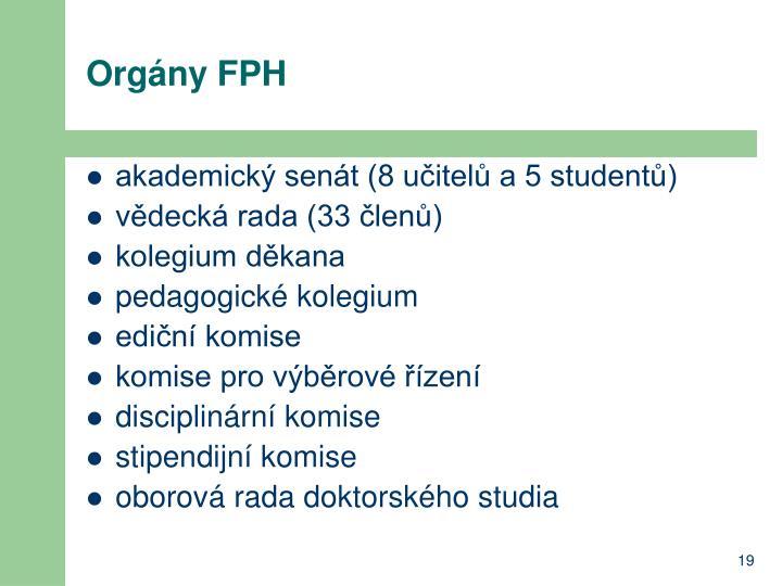 Orgány FPH