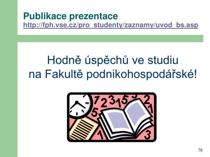 Publikace prezentace