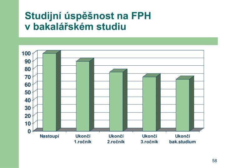 Studijní úspěšnost na FPH