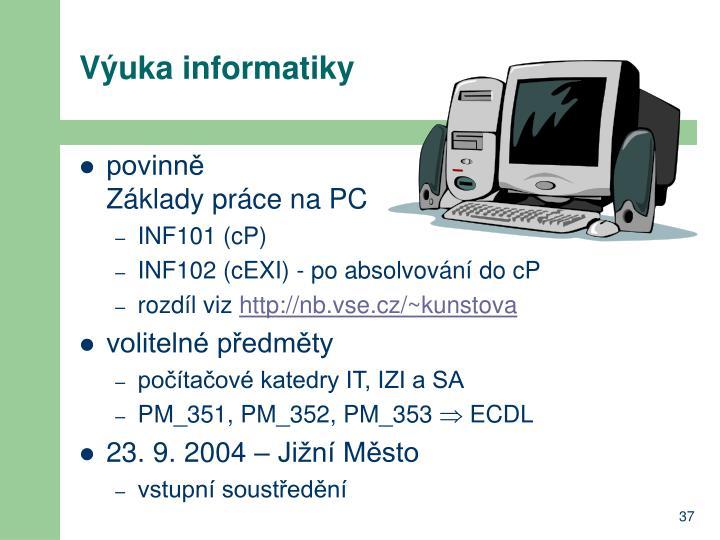 Výuka informatiky