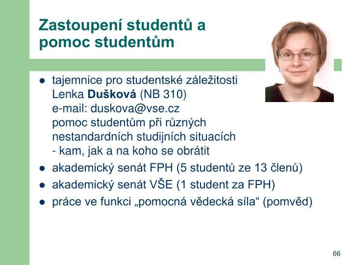Zastoupení studentů a