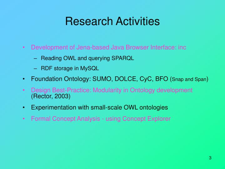 Research activities1