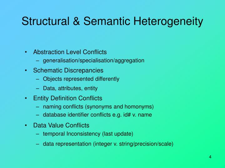 Structural & Semantic Heterogeneity
