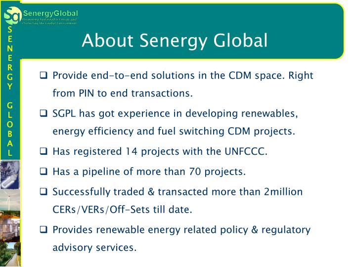 About Senergy Global
