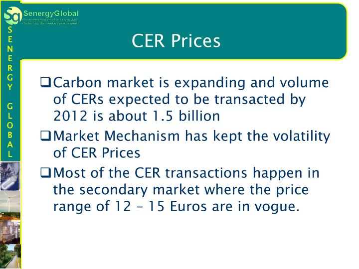 CER Prices