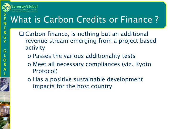 What is Carbon Credits or Finance ?