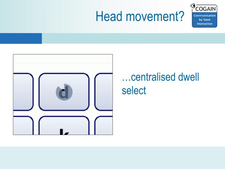 Head movement?
