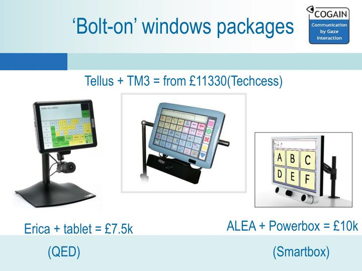 'Bolt-on' windows packages